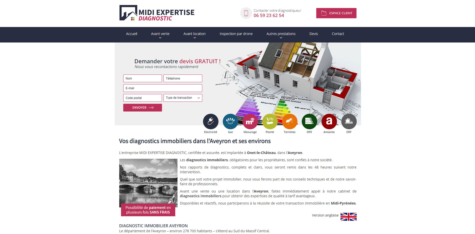 Diagnostic immobilier Aveyron